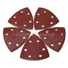10pcs 40/60/80/100/120 Grit Sanding Sand Paper Sheets 90mm Triangle Disc Pads