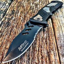 """8.5"""" M-Tech Spring Assisted Open Tactical Rescue Combat Folding Pocket Knife BK"""