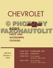 Chevy Truck Body Parts Book 1958 1959 1960 1961 1962 1963 Chevrolet Catalog OEM