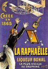 Art affiche la raphaelle liqueur bonal 1865 français imprimé