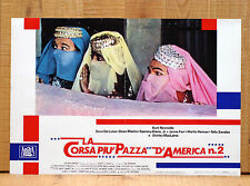 LA CORSA PIù PAZZA D'AMERICA 2 fotobusta poster The Cannonball Run Car Race 1984