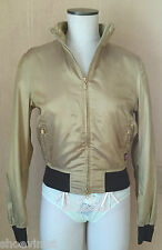 AUTHENTIC BELSTAFF NEW COLLEGE BLOUSON LADY GOLD SIZE 42 NWT BOMBER JACKET