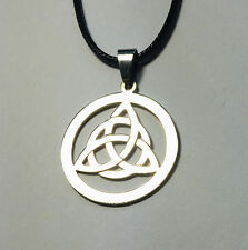 Stainless Steel Irish Celtic Triquetra Trinity Knot Pendant Necklace