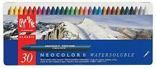 CARAN D'ACHE Neocolor II Watersoluble Wax Crayon Pastels | Set Of 30 | RRP £55