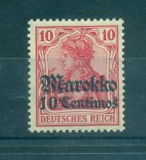 GERMANIA POSTA ALL'ESTERO - GERMANY POST ABROAD MOROCCO 1905 Mi. 23 10Cent