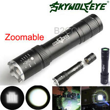 Sky Wolf Eye 2500 LM Zoomable Flashlight CREE XML T6 LED 18650 Flashlight Torch