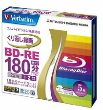 5pack Verbatim BD-RE 25GB 2x printable Blu-ray Rohlinge rewriteable japan