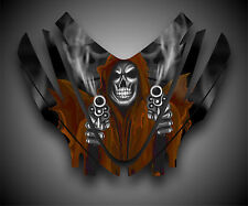 Arctic Cat M7 M8 M1000 Crossfire 05-11 Graphics Decal Hood Grim Reaper Orange