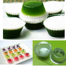 Disposable Plastic Cups Mold Mini Jelly Cake Container Round Shape 100 pcs