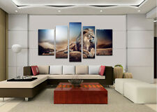 Oil Painting HD Print On Canvas Dec Wall Art,Lion King 5pc(No Stretch)