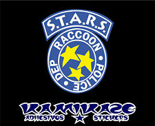 PEGATINA STICKER AUTOCOLLANT ADESIVI  DECAL S.T.A.R.S. RESIDENT EVIL  RACCOON