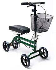 Preowned Steerable Knee Walker Scooter Turning Folding with Disc Brake & Basket