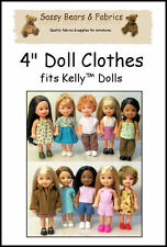 "4"" Doll Clothes Pattern - Fits Kelly dolls"
