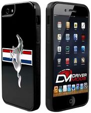 Cell Phone Cases Covers Skin for Apple iPhone 5 BLACK Ford Mustang Black