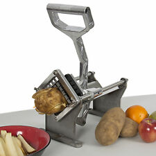Potato French Fry Fruit Vegetable Cutter Slicer Commercial Quality W/ 4 Blades B