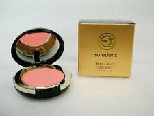 EI SOLUTIONS Pure Grace Soft Blush Mirrored Compact with Brush * Peach Pink *