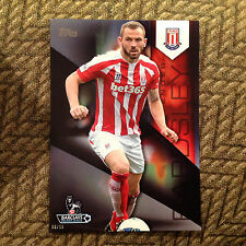 #111 Phil Bardsley Stoke City #ed/10 made 2014/15 Topps Premier Gold 5x7 BLACK