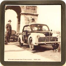 Renault 4CV Police Arc de Triomphe à Paris carreau de faïence déco
