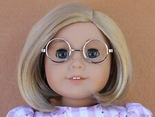 Doll Clothes fitting 18 in American Girls Silver Frame Round CL Lens GLASSES