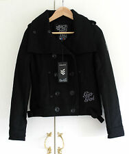 BNWT GIO GOI Black Double Breasted Elliot Jacket NWT UK 8