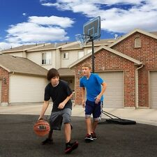"Portable Basketball Board 44"" With Spalding Basket ball Goal Hoop System Base"