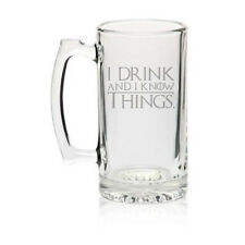 I Drink and I Know Things Funny 27oz Large Jumbo Beer Glass Mug Stein