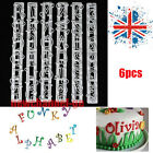 6p Number+letter Frill Edge Frilling Cake Cupcake Cutter Gum Paste Tools Mold #T