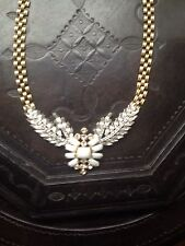 NWT LULU FROST for J.Crew Winged Glory Necklace Swarovski Crystals White JCREW