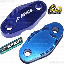 Apico Blue Brake Hose Brake Line Clamp For KTM SX 250 2017 17 Motocross Enduro