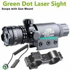 For Rifle Remote Switch 2 Mounts Tactical 532nm Green Laser Dot Scope Sight