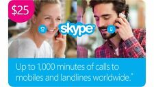 skype credit fast recevied 25$ for 18$