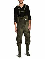 Fladen Fishing Green Chest Waders PVC Nylon Fly Coarse River Stream, Size 6 (41)