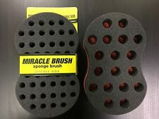 DOUBLE-SIDE MIRACLE BRUSH Twist Sponge 4 Locs,Dreads,Coils, &Afros Free Shipping