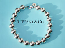 Tiffany & Co Sterling Silver 10mm Bead 7.5 Inch Bracelet