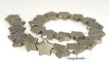 20MM PALAZZO IRON PYRITE GEMSTONE STAR 20MM LOOSE BEADS 16""