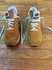 New Balance Woman's Mustard Suede Tennis Shoes Size 7