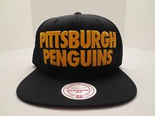 MITCHELL & NESS NHL PITTSBURGH PENGUINS TITLE SNAPBACK CAP HAT NWT BLACK