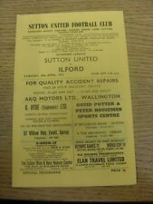 18/04/1972 Sutton United v Ilford  . Any faults are noted in brackets, otherwise