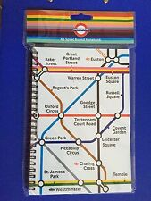 LONDON UNDERGROUND TUBE MAP NOTE PAD, NOTEBOOK, BRITISH ENGLAND UK SOUVENIR GIFT