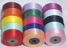"15 ROLLS of  SATIN RIBBON, 24 MM/1"", 15 nice Colours, High Quality"