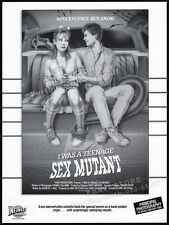 I WAS A TEENAGE SEX MUTANT aka DR. ALIEN__Original 1987 Trade Print AD / poster