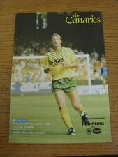29/09/1990 Norwich City v Luton Town  (the item is in good/very good condition w