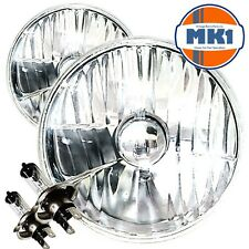 "7"" Crystal MAZDA MX-5 MX5 Mk1 Sealed Beam Headlamp Headlight Halogen Conversion"