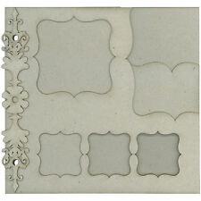 FabScraps CLASSIC LAYERED Blank Chip Album scrapbooking DIE-CUT COVER & PAGES