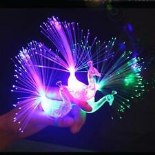 Finger Light Ring Laser LED Party Rave Favors Glow Beams Peacock Toys HOT