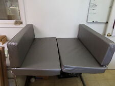 "Set of 40"" x 24"" RV Camper Palamino Dinette Cushion Covers Only Bed Silver"
