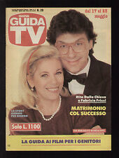 GUIDA TV MONDADORI 20/1992 FABRIZIO FRIZZI RITA DALLA CHIESA TELECAMPIONE RETE A