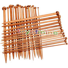 Carbonized Bamboo Set 36pcs Single Pointed Knitting Needles Crochet 2mm -10mm