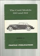 THE CORD MODELS 810 AND 812  PROFILE PUBLICATIONS BOOK 'BROCHURE'