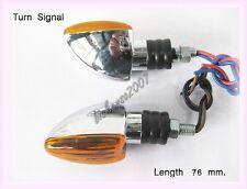 HONDA CB CR SUZUKI GSXR TURN SIGNAL ORANGE LENS / CHROME LED PAIR  (bi)